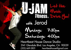 U-Jam Fitness with Jerod is at Heartbeat House Dance Studio EVERY MONDAY at 7:30PM and EVERY SATURDAY at 4:00PM