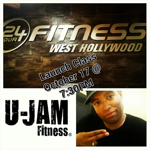 Join Jerod Williams as he debuts U-Jam Fitness at 24 Hour Fitness in West Hollywood, CA on Friday starting October 17th at 7:30PM.  Why wait in line at the club on the strip when you can GET IT IN on the Group X Dance Floor!