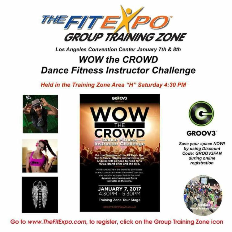 The Fit Expo Training Zone is being held at the Los Angeles Convention this Saturday, January 7, 2017
